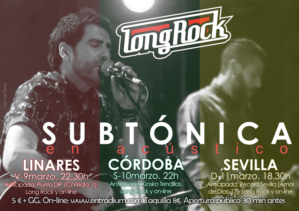 Subtónica Long Rock Tour 2018